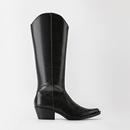 ZA家TRF牛仔靴肯豆小白同款 靴 黑色牛仔式 17052001040 高跟时装