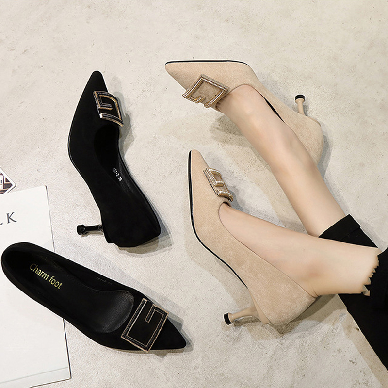 New Korean high heeled shoes in spring and summer of 2021