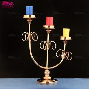 新款创意特价铁艺烛台浪漫欧式创意酒店摆件婚庆道具烛台路引