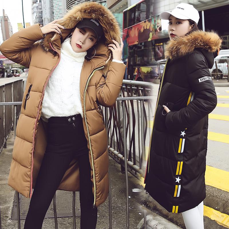 2017冬季首发新款保暖时尚韩版中长款修身羽绒棉女251#