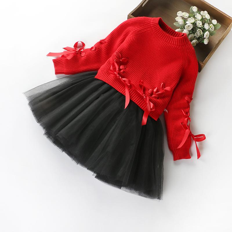 Девочки платье новинка зимний осеннний ребенок утолщённый с дополнительным слоем пуха красная юбка ребенок платье принцессы 2017 зимнюю одежду нового модель