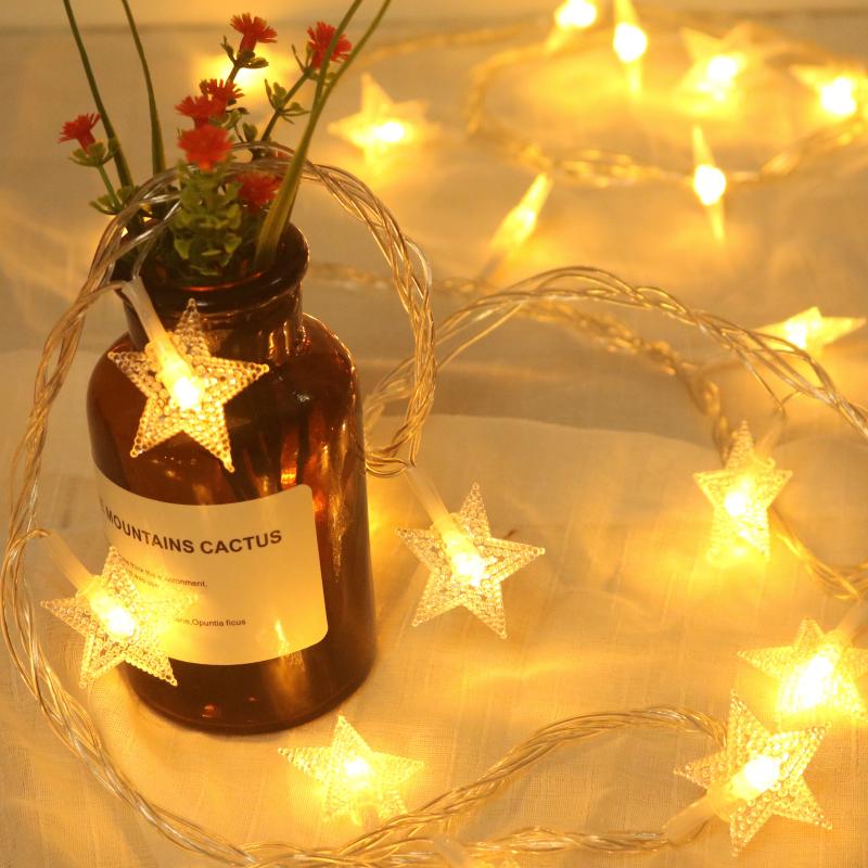 星星灯饰网红房间布置卧室氛围装饰LED小彩灯闪灯串灯满天星挂灯