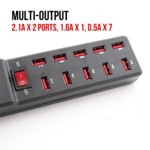 通用多口充电器头2A多孔USB 10口充电插头安卓手机充电器万能