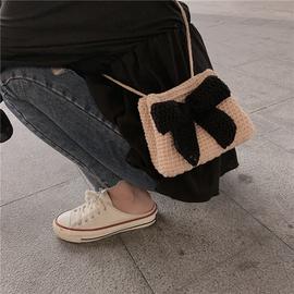 小月手作 钩针编织毛线包包蝴蝶结束口包手工diy编织包材料包礼物