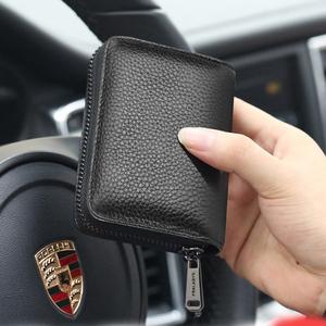 卡包男大容量多卡位真皮套超薄证件包卡夹小巧女卡套防盗刷防消磁