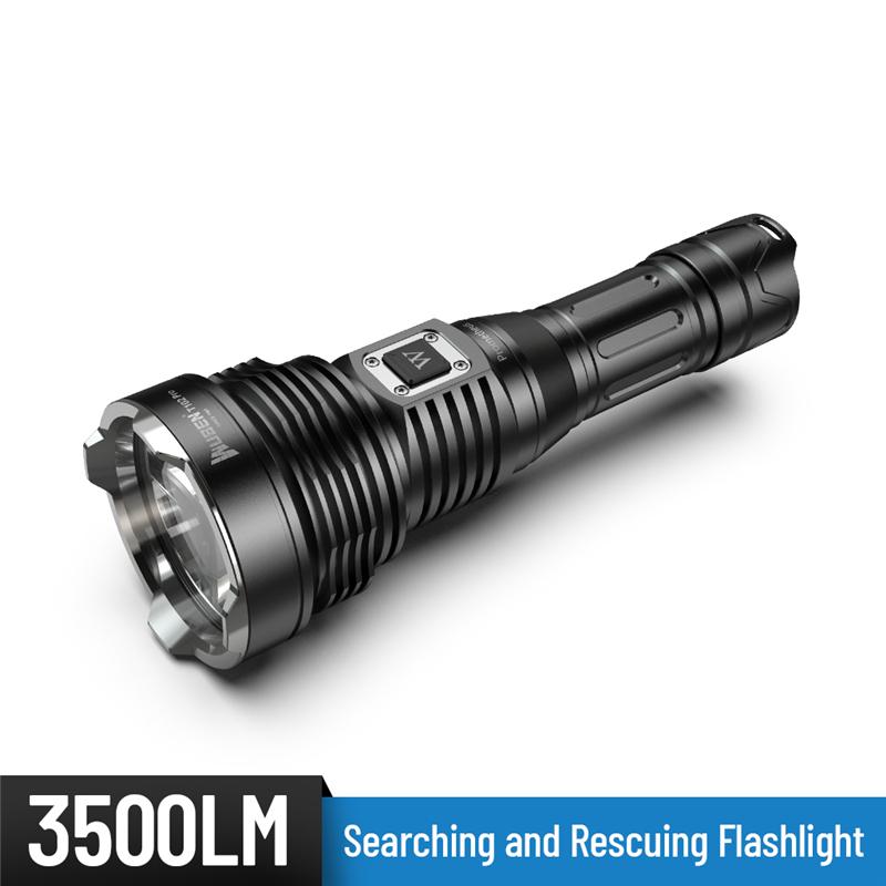 WUBEN务本T102 Pro搜索救援3500流明26650电池Type-C充电爆闪SOS