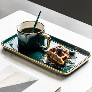 英式ins 轻奢咖啡杯碟小奢华欧式复古风下午茶茶具水杯子陶瓷套装