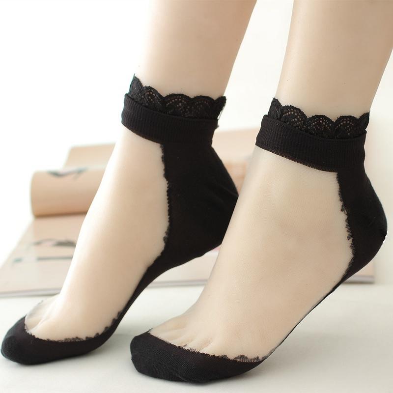 11月27日最新优惠夏季玻璃丝透气防滑丝袜水晶袜子