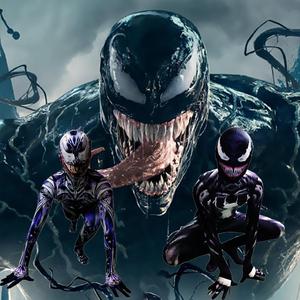 领2元券购买抖音同款Venom毒液cos衣服装成人儿童黑色蜘蛛侠紧身衣漫威共生体