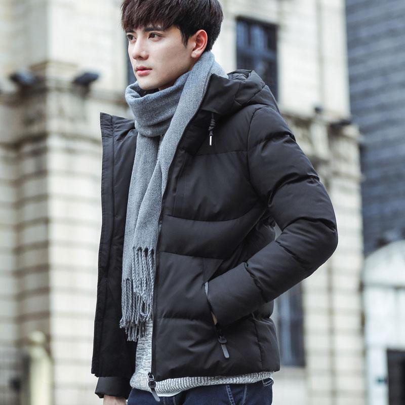 Хлопок мужской пальто зима 2017 новый корейский красивый ватник зима тенденция краткое модель утолщённый сохраняющий тепло подбитый