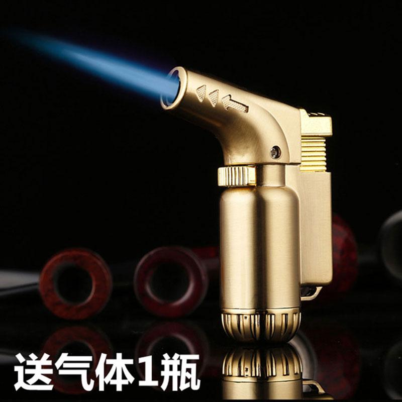 创意直冲雪茄充气打火机耐高温焊枪防风艾灸专用点火器喷枪送气体 Изображение 1
