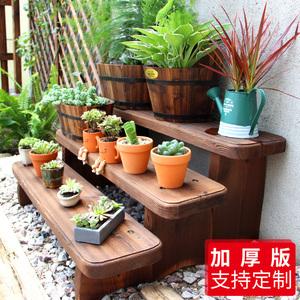 阶梯花架实木置物架阶梯式花架子多层室内特价多肉户外阳台花架子