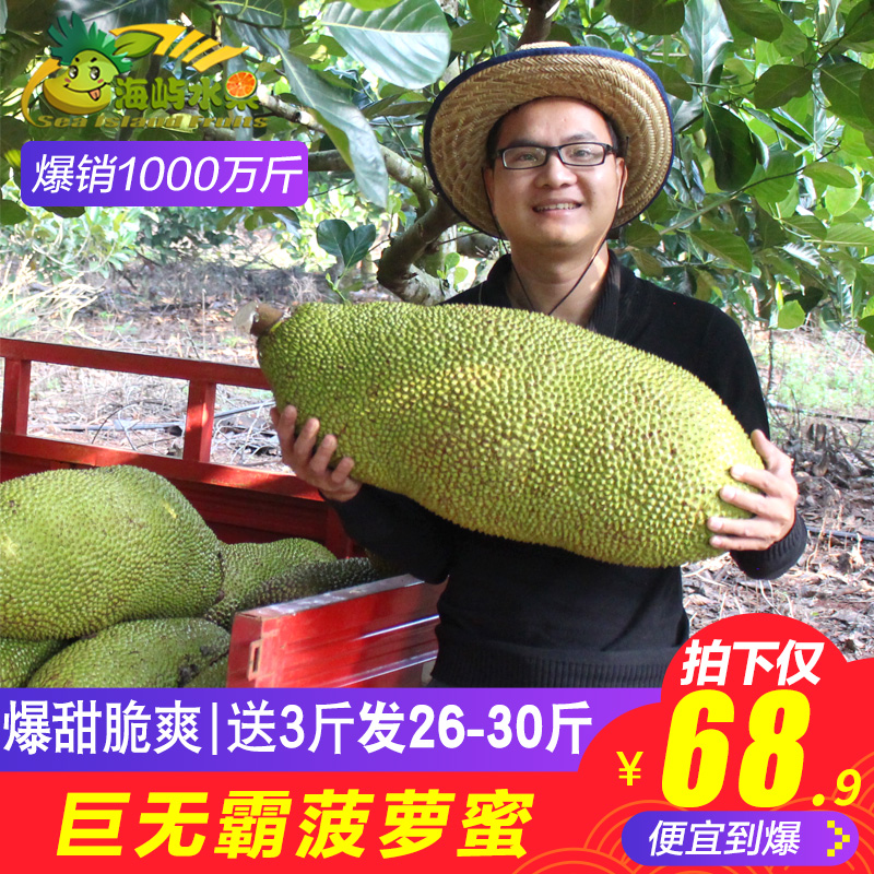 【海南巨无霸菠萝蜜26-30斤】水果热销83件限时秒杀