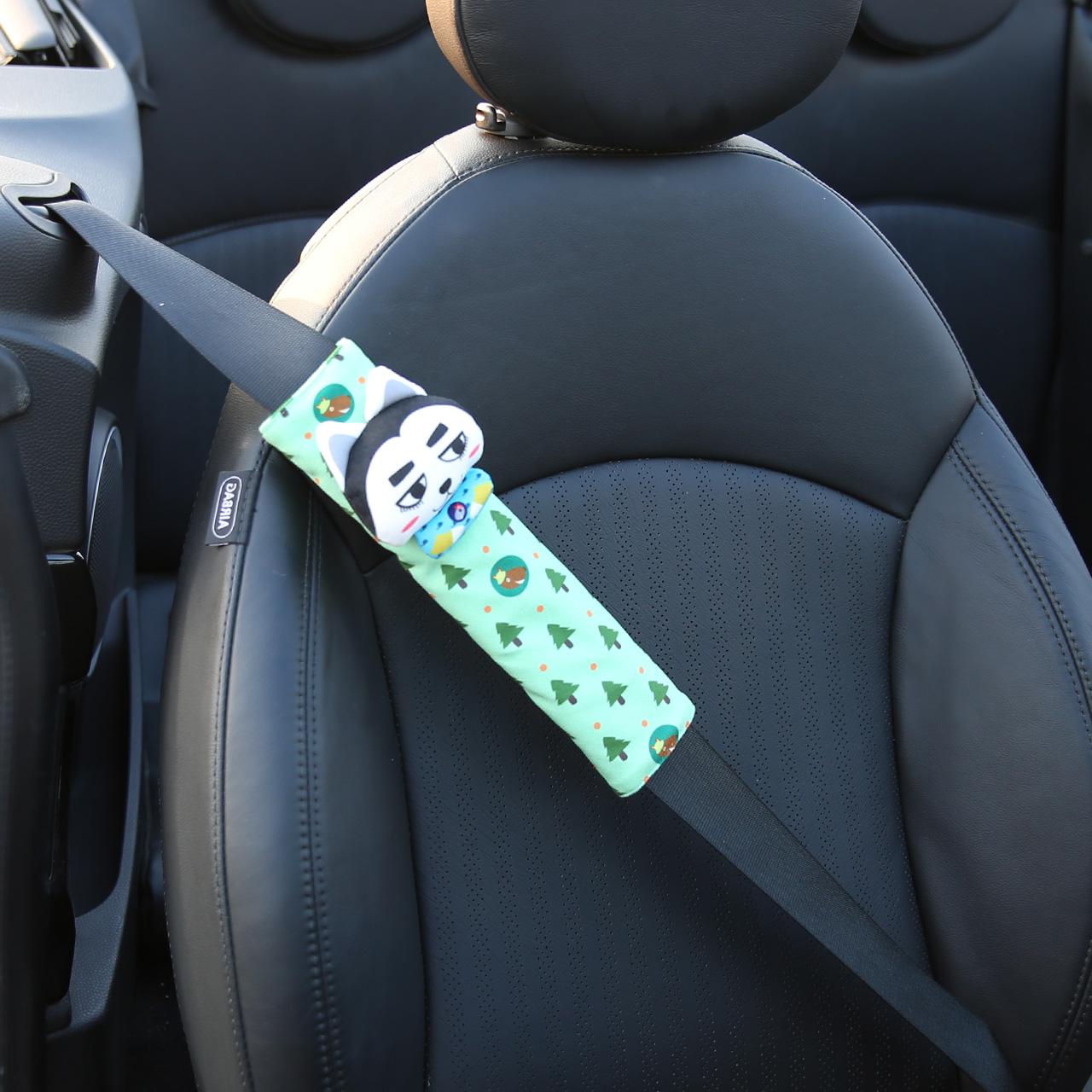 卡裏努努汽車安全帶護肩套可愛 車用內飾品卡通安全帶套車飾