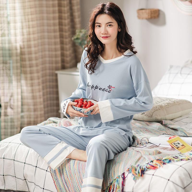 月子服夏薄款产后纯棉孕妇哺乳睡衣套装春夏怀孕期产妇喂奶家居服