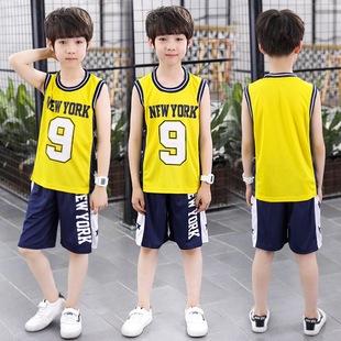t恤10小学生12纯棉15岁男孩夏季 夏装 衣服 男童运动套装 8中大童短袖
