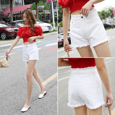 白色牛仔短裤女夏季2020年新款高腰显瘦宽松韩版薄款超短热a字潮