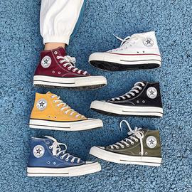 高帮帆布鞋男秋冬季韩版百搭学生潮鞋加棉保暖布鞋板鞋高邦鞋子男图片