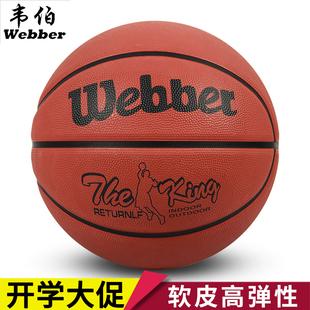 韦伯耐磨篮球幼儿园儿童成人训练男女3-4-5-6-7号室内室外水泥地品牌