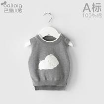 宝宝马甲女童毛衣男马夹婴儿毛线衣服外穿洋气可爱儿童背心针织衫