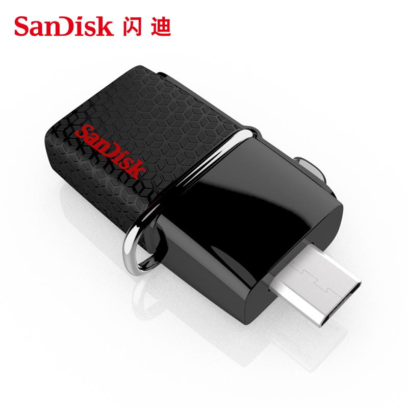 閃迪手機U盤16g otg電腦兩用迷你U盤 高速USB3.0雙接口16gu盤定製