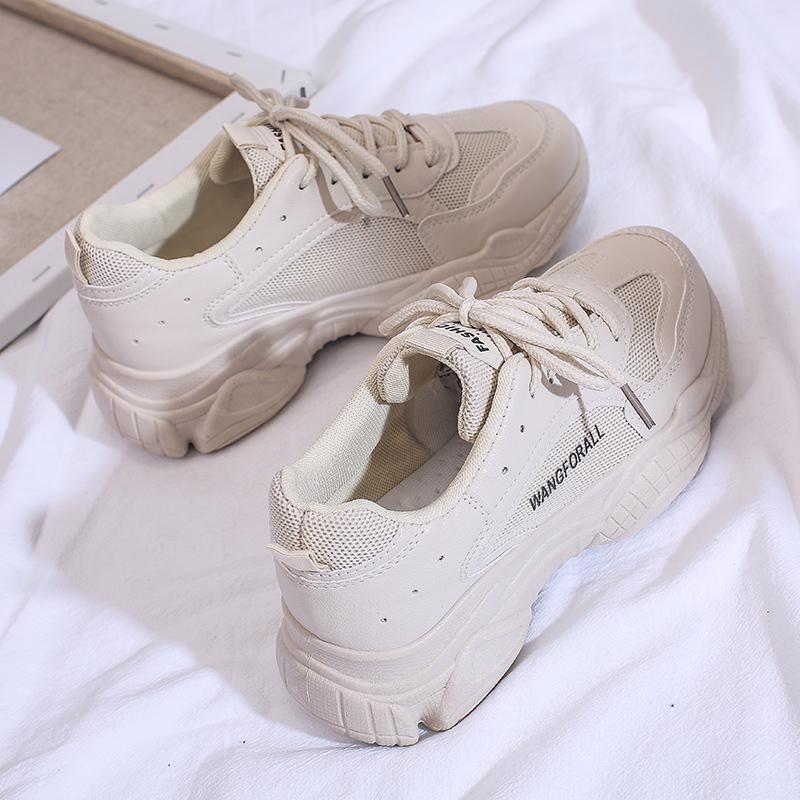 满188.00元可用130元优惠券2019新款运动鞋女ins跑步夏季透气学生韩版百搭老爹潮鞋休闲板鞋