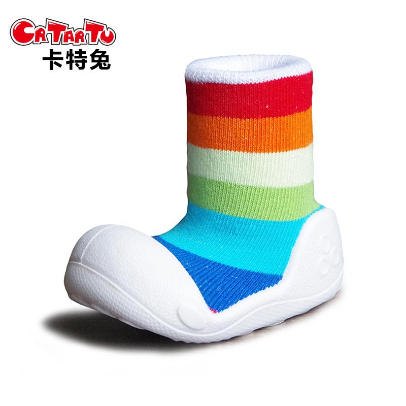 卡特兔crtartu嬰兒軟底防滑寬頭學步鞋 寶寶連襪鞋地板襪套家居鞋