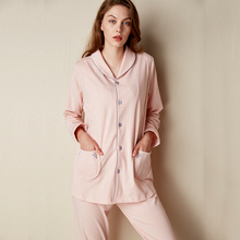 Yunxi Yuezi's Summer Lactation Nightwear Thin Spring and Autumn Cotton Post-partum Pregnant Women's Nightwear Feeding Lactation Home Clothing