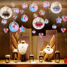 Christmas decoration transparent ball acrylic ball shopping mall window shop creative decorative pendant scene layout