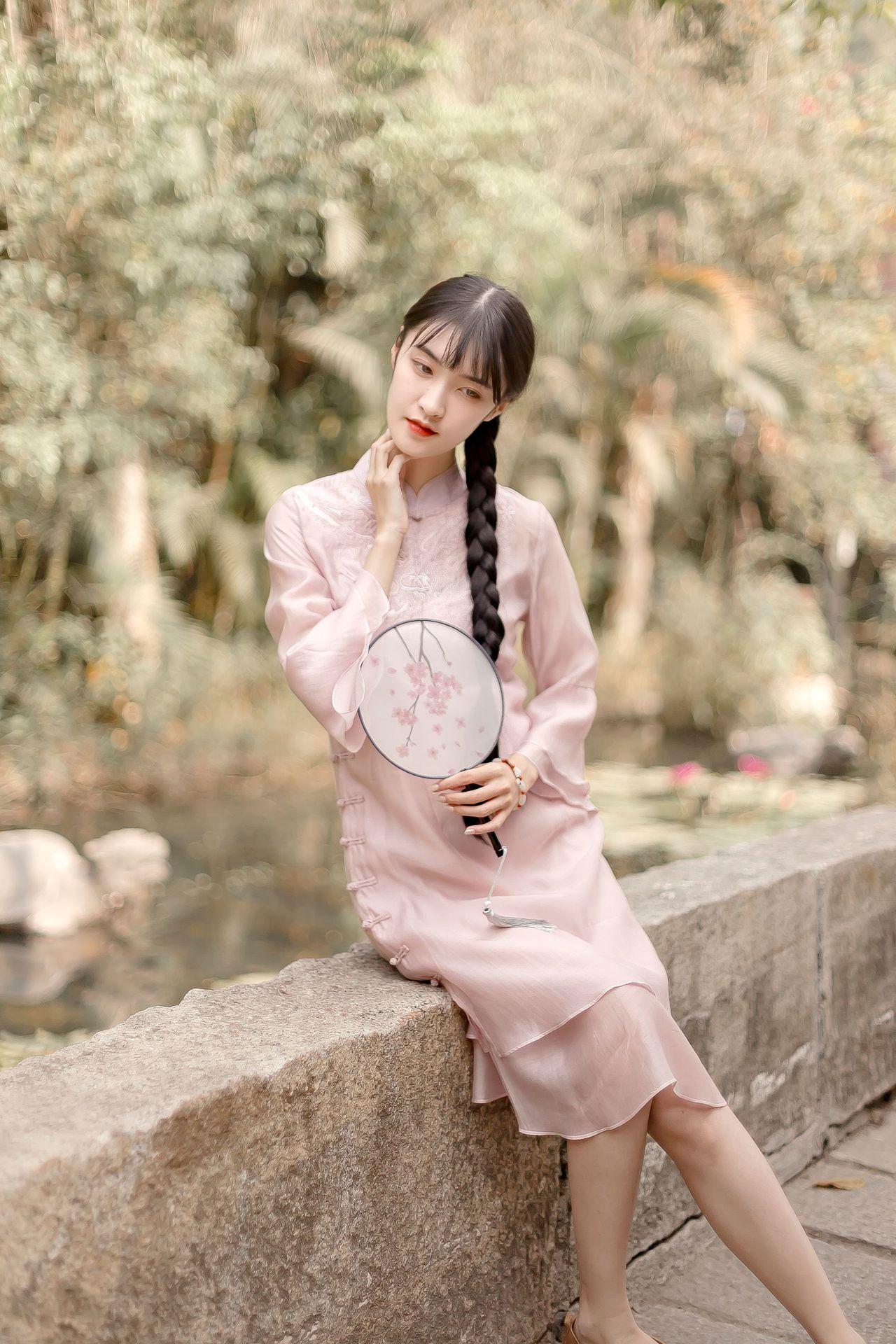 夏新品文艺复古中国风连衣裙旗袍改良宽松旗袍裙中长款日常中式