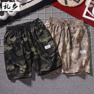 男士短裤夏季休闲宽松纯棉工装裤五分裤韩版潮牌迷彩裤运动裤男装