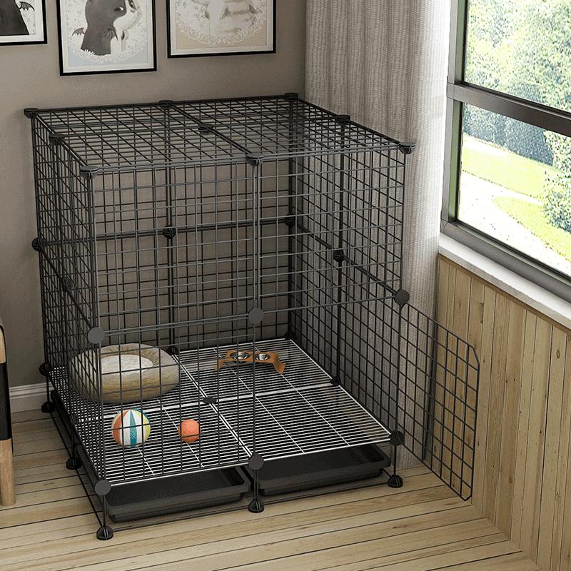 狗笼子小型犬室内中型带厕所泰迪狗窝柯基宠物比熊狗狗围栏小栅栏