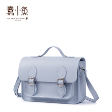Cowhide hand-held Cambridge bag women's Single Shoulder Messenger Bag knitting gift DIY hand sewn self-made bag making materials