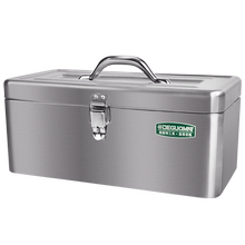 Stainless steel toolbox, multi-function portable home vehicle large maintenance tool, heavy iron box.