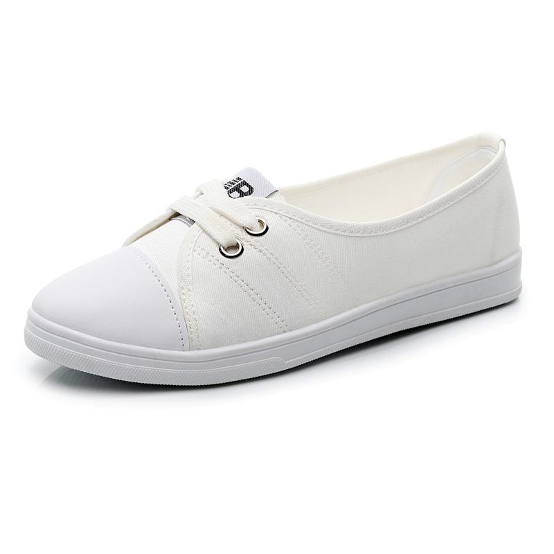 yh5帆布小白鞋女鞋子韩版平底布鞋评测参考