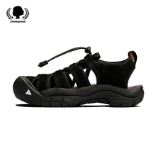 Littlegood New Retro Sports Sandals Female Xiadong Hole Shoes Female Sandal Shoes Thick-soled Students Shake the Bottom