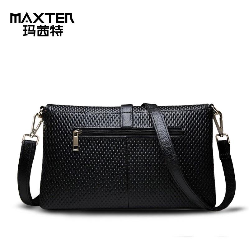 MAXTER/玛茜特轻奢小众包包压纹女包斜挎小方包通勤单肩手提包