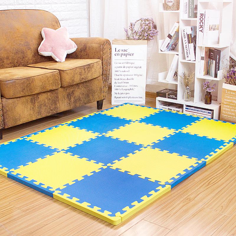 限时抢购环保泡沫拼接地垫加厚2cm婴儿童爬爬垫游戏垫防滑防摔爬行垫45x45