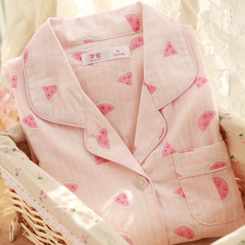 梦蜜夏季纯棉纱布月子服产后睡衣(用129元券)