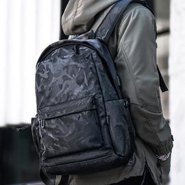 双肩包男迷彩背包大容量简约休闲大容量旅行电脑包轻便大学生书包