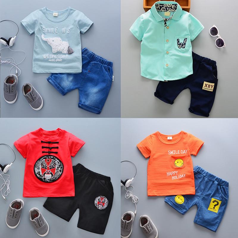 童装男女童短袖短裤套装1-5岁洋气宝宝儿童套装婴幼儿衣服夏装潮