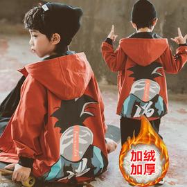 男童秋冬外套2020新款洋气儿童风衣加绒加厚中大童男孩上衣韩版潮