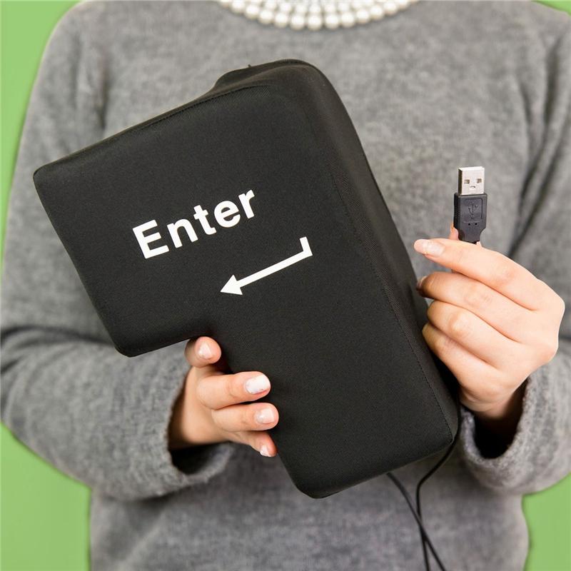 USB Big Enter творческий компьютер внешний огромный ультра большой возвращение автомобиль кнопка вздремнуть подушка волосы вентиляционный подарок сейчас в надичии