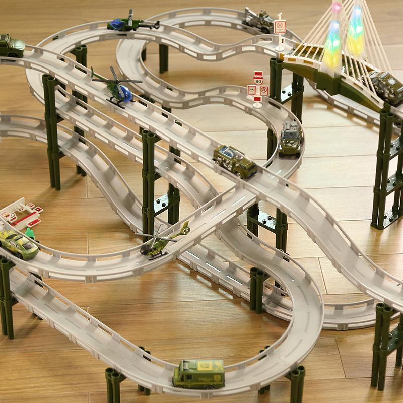 儿童轨道车玩具电动汽车小火车3赛车跑道益智智力动脑男孩礼物6岁