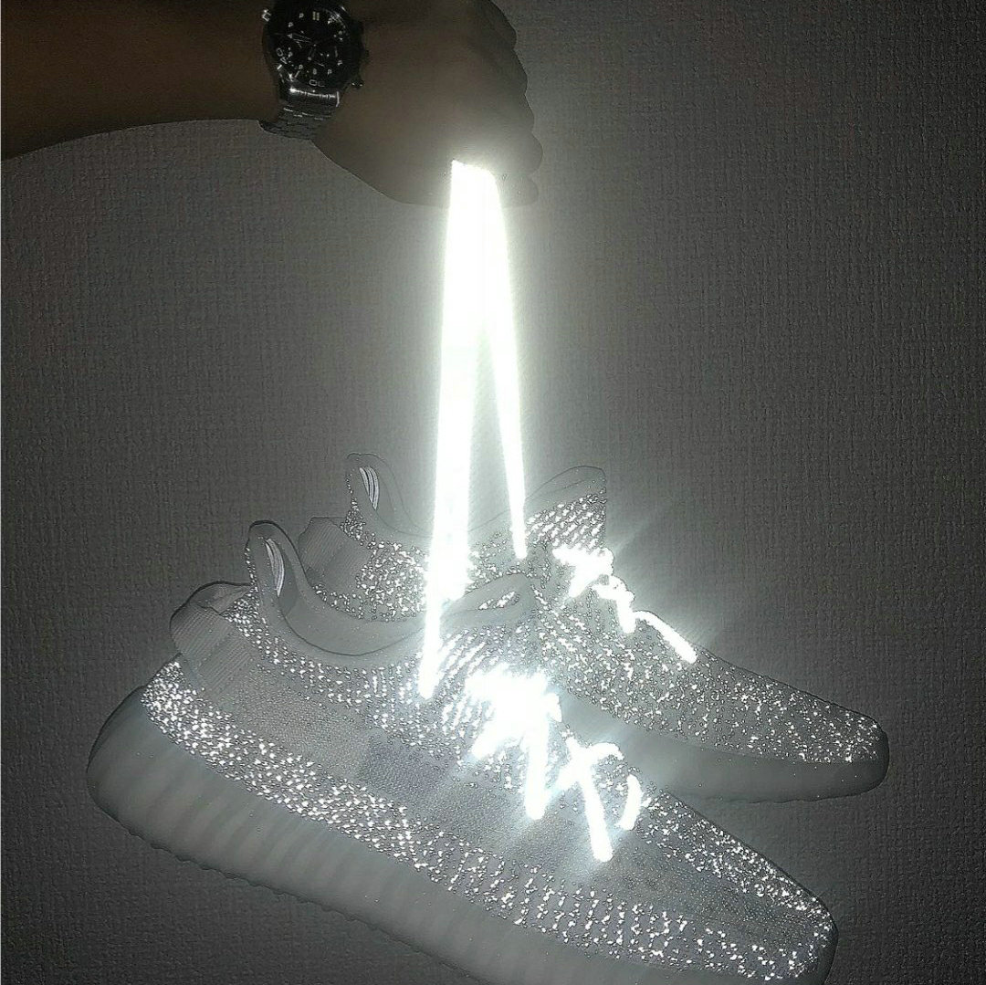反光鞋带 满天星yeezy椰子350v2发光天使圆形700夜光男女运动鞋带