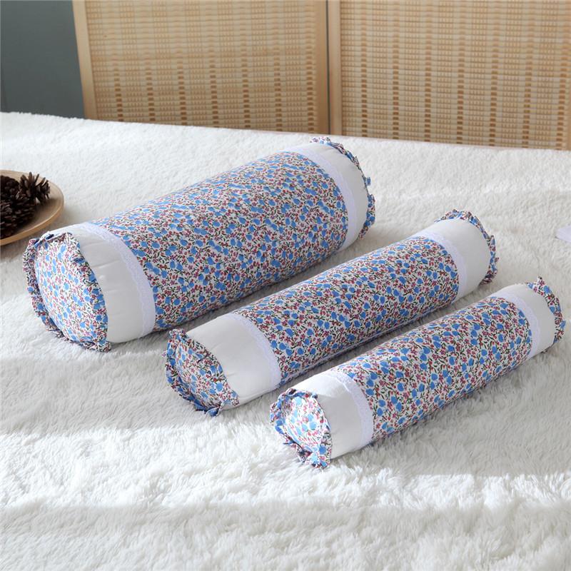 园形枕头护颈椎花枕头保健圆柱成人枕糖果荞麦枕小米长形复古韩式