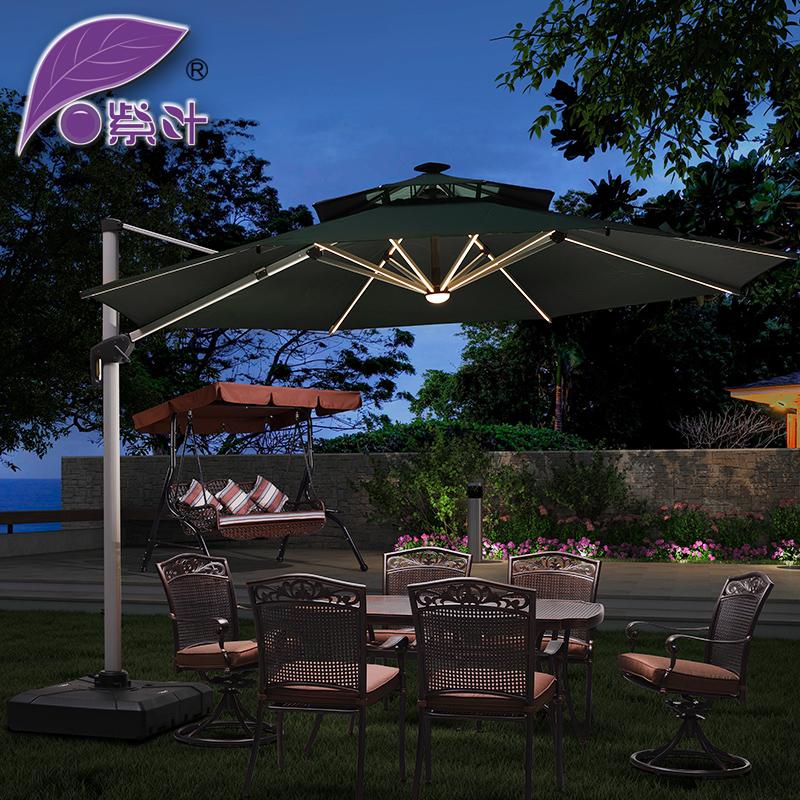 Фиолетовый лист на открытом воздухе зонтик суд больница зонт солнечной энергии зонт группа LED свет свет солнце зонт реклама рим зонт бар