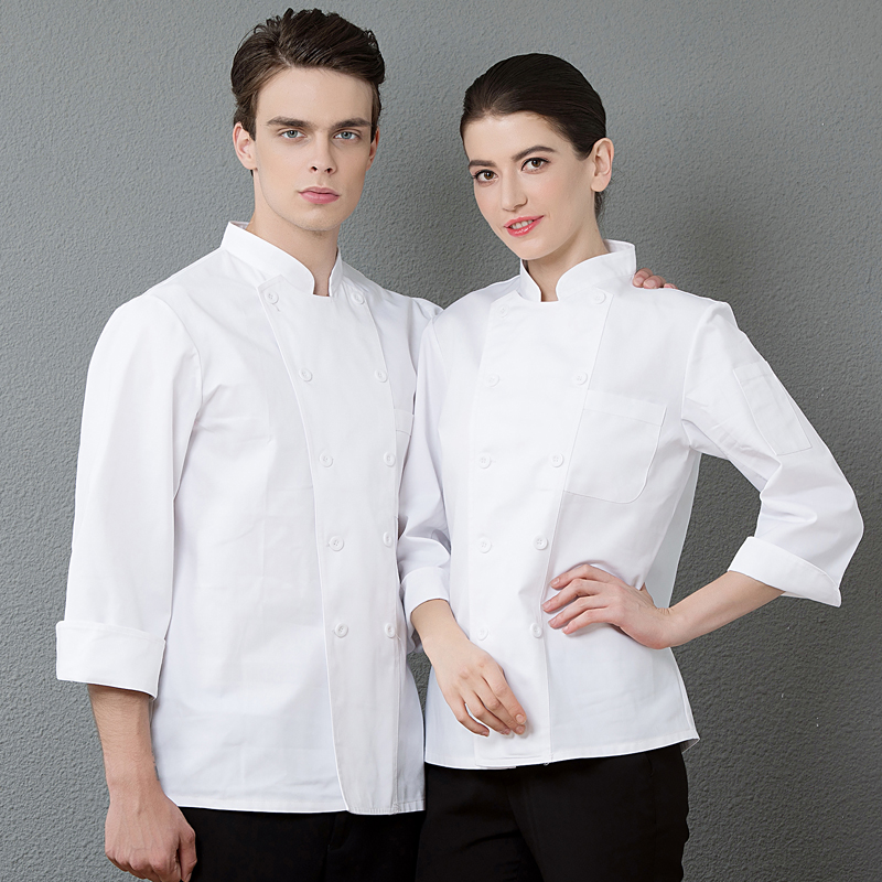 Hotel chefs clothes long sleeve cake makers work clothes decorators uniform pastry clothes breakfast bakerys working clothes