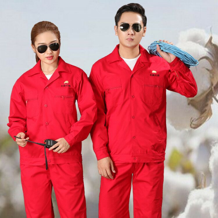 Anti static uniform autumn and winter long sleeve gas station tooling road and bridge construction engineering clothing supervision overalls electrical clothing