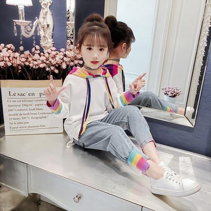 女童套装春装2019新款儿童洋气时髦卫衣女孩网红童装中大童春秋潮